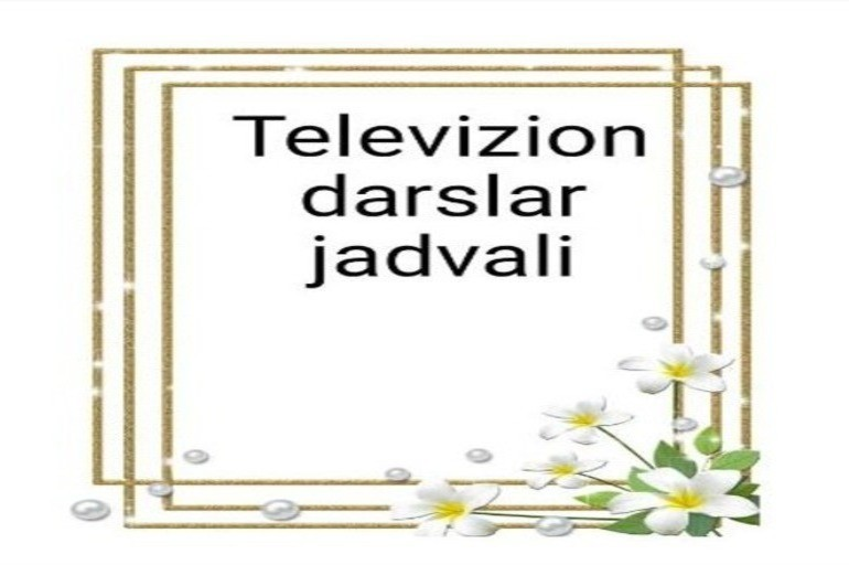 Onlayn maktab, Televizion darslar jadvali