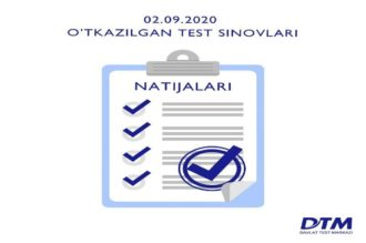 2-sentabr DTM test natijalari e'lon qilindi
