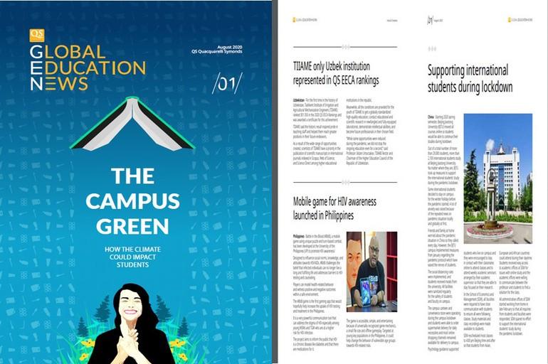 «QS Global Education News» jurnalida ilk bor O'zbekiston oliy ta'lim muassasasi haqida maqola chop etildi
